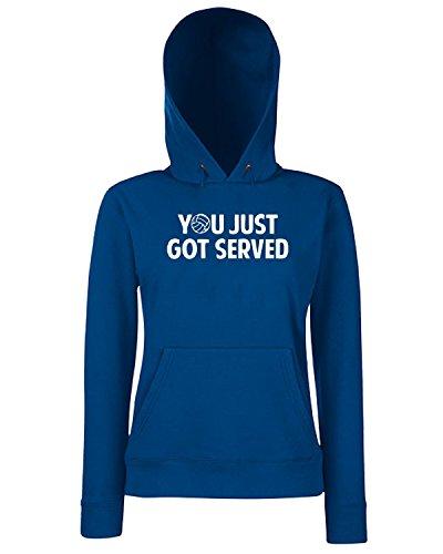 T-Shirtshock - Sweats a capuche Femme OLDENG00332 got served volleyball tshirt Bleu Navy