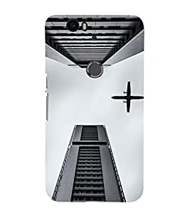 EPICCASE Flying between Scrapers Mobile Back Case Cover For Huawei Nexus 6P (Designer Case)