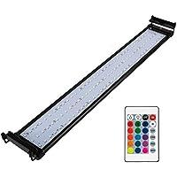 NICREW Luz LED Acuario RGB, Pantalla LED Acuario con Control Remoto, Iluminación LED para Acuarios Plantados Lámpara LED para Peceras 72-92 cm, 18W con Enchufe
