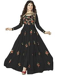 Bigben Black Georgette Embroidery Designer Anarkali Suits