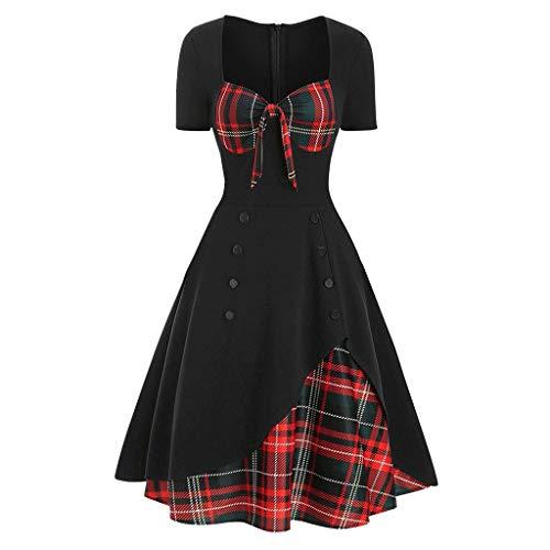 SUMTTER Gothic Kleidung Damen Karneval Kostüm Sexy Kleid Vintage Mittelalter Kleid Spitzenkleid Kleider Sale für Halloween Karneval Weihnachten
