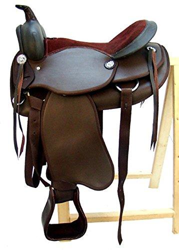 A&M Reitsport Westernsattel LOWA Braun aus Kunstleder, Größe:16 Zoll