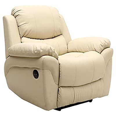 Madison Electric Leather Automatic Recliner Armchair Sofa Home Lounge Chair from Sonic Online Ltd