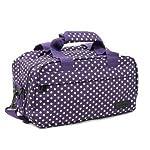 Members Essential On-Board Ryanair Compliant Second Hand Baggage in Purple & White Polka Dot