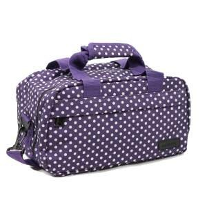 members-essential-on-board-ryanair-compliant-second-hand-baggage-in-purple-white-polka-dot