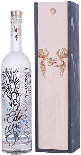 Vodka Lost Eden Elegante Flasche Original LUX Wodka Fine Pure weich 1 x 0,7 L 40% Vol Extrem Rein Premium Luxus Große Limited Edition Prime Bester Vodka Ultimate Silver Clear Elite