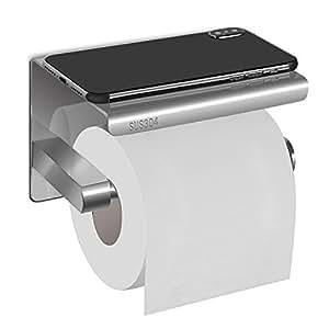hblife toilettenpapierhalter papierhalter edelstahl wandhalter mit dem ger umigen regal f r. Black Bedroom Furniture Sets. Home Design Ideas