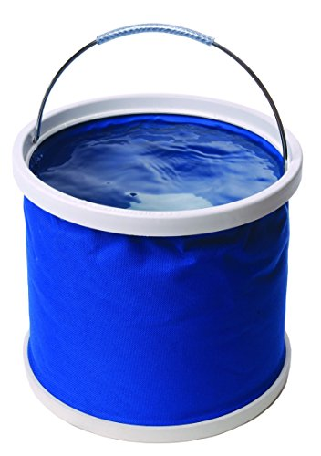 Seau Pliant en Nylon épais enduit - Couleur : Bleu