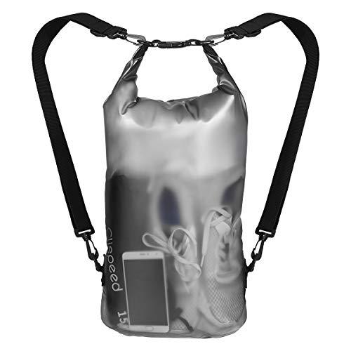 CLISPEED Dry Bag Wasserfester Rucksack wasserdichte Tasche für Schwimmen Angeln Rafting Camping (15L) (Bags Rucksack Dry)