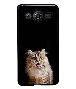 PrintVisa Designer Back Case Cover for Samsung Galaxy Core Prime G360 (brown big kitty red tongue)