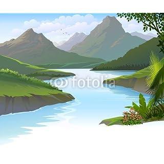 adrium Illustration of a Peaceful River (71072704)