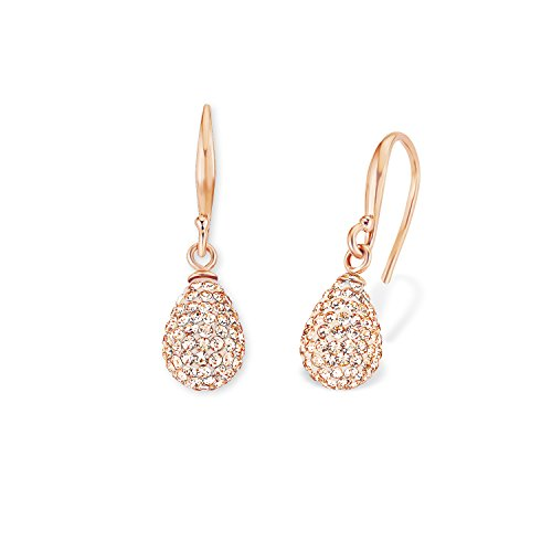 Amor Damen-Ohrhänger 2,7 cm Tropfen 925 Silber rosévergoldet Kristall orange