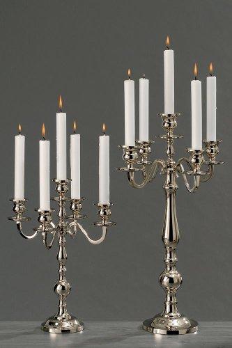 Boltze Kerzenleuchter Varas Silber 35cm Kerzenhalter Kerzenständer silberner Kandelaber