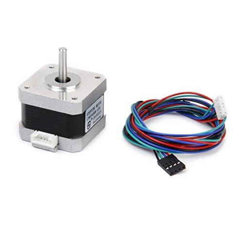 vorcool NEMA 17Schrittmotor mit Kabel für 3D Drucker–4Fäden 34mm 1,8°
