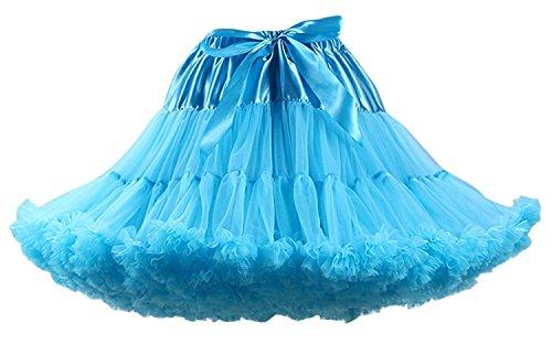(FOLOBE Erwachsene Luxuriöse Weiche Chiffon Petticoat Tüll Tutu Rock Damen Tutu Kostüm Petticoat Ballett Tanz Rock)