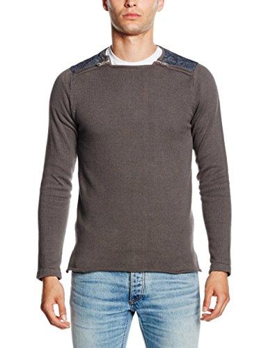HOPE\'N LIFE Herren Pullover Wasabi, Grau (Anthra), (Hersteller Größe: Small)