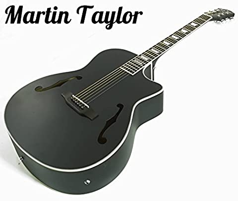 Martin Taylor Electric Electro semi Acoustic hollow body guitar (satin matte black) Fender picks