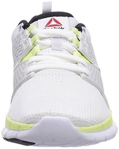 Reebok ZQuick Dash, Unisex-Erwachsene Laufschuhe Weiß (White/Porcelain/Citrus Glow/Black)