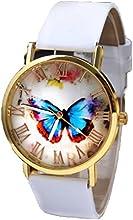Relojes Pulsera Mujer,Xinan Mariposa Banda Cuero Relojs de Cuarzo Analógico