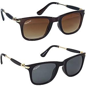 Elegante Combo of UV Protected Trendy Gentlemen Wayfarer Sunglasses for Men