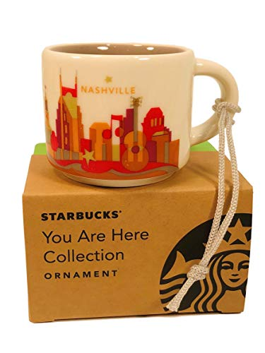Starbucks Nashville Sie hier, Keramik Kaffee Tasse Demitasse Ornament 2Oz (Nashville-kaffee-tasse)