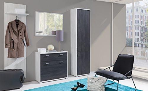 HomeDirectLTD Garderobenschrank Paula Möbel Garderobe Kleiderschrank Modernes Design Kiefer...