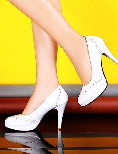 WSS 2016 Chaussures Femme-Bureau & Travail / Habillé / Décontracté-Bleu / Rouge / Blanc / Orange-Talon Aiguille-Talons-Talons-Similicuir white-us4-4.5 / eu34 / uk2-2.5 / cn33