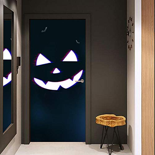 Türaufkleber 3D Ausgang 3D Tür Poster Grimasse Tür Aufkleber Können Wasserdichte Wandaufkleber Dekoration Aufkleber Entfernt Werden