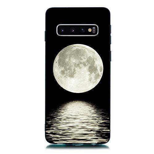 Klar Kristal Bling TPU für Samsung S10,Clear Transparent Sparkle Glitter Kreative icht Durchsichtiges Soft-Flex Gummi Gel Ultra Dünn Slim Flexible Weiche TPU Silikon Gomma Schutz Hülle -