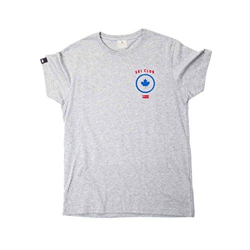 D. Franklin Unisex T-Shirt Ski Club Tebol Gris Grau