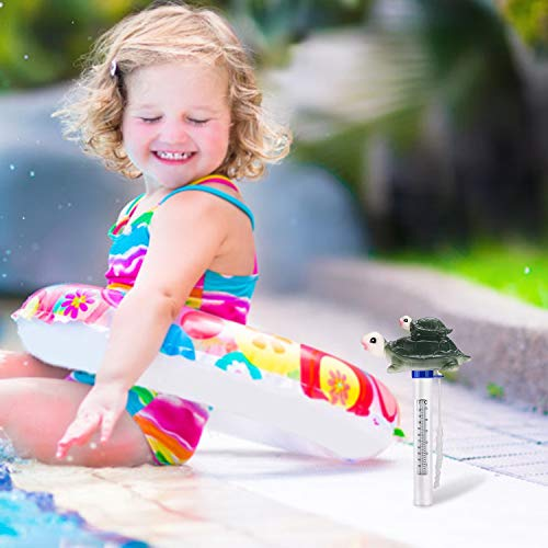 Bearbro Thermomètre pour piscine, Thermomètre Flottant de Piscine,avec Une Corde, Résistant aux Chocs pour Tous Les & piscines, Spas, Hot Tubs, Aquariums & Les Étangs du Poisson(tortue)