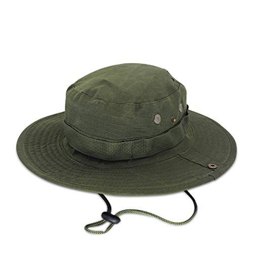 DORRISO Chapeau de Soleil Homme Femme Pliable Anti UV Outdoor Bucket Hat Chapeau de Peche Étanche Chapeau de Voyage Casquette