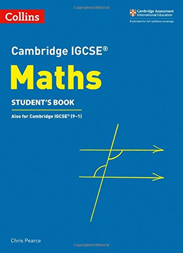 Cambridge IGCSE® Maths Student's Book (Cambridge International Examinations)