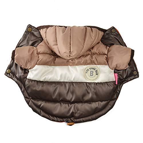 Lcwyp vestiti per animali inverno piumino caldo piumino impermeabile cappotto con cappuccio cappotto abbigliamento per cani di piccola taglia chihuahua bulldog francese abbigliamento