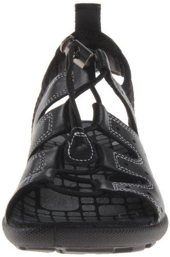 Ecco  Jab Sandal Black/Black Feather/Tex/Sole, Décontractées (casual) femme Noir - Schwarz (BLACK/BLACK 51707)