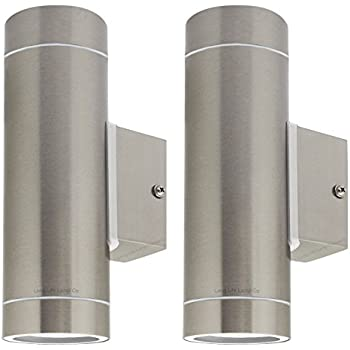 Attractive 2 X Stainless Steel Double Outdoor Wall Light IP65 Up/Down Outdoor Wall  Light ZLC02
