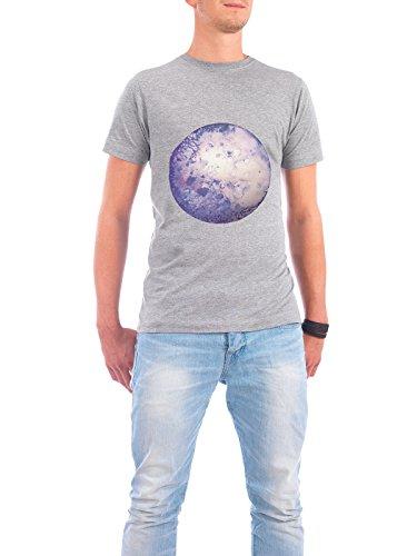 "Design T-Shirt Männer Continental Cotton ""Lilac moon"" - stylisches Shirt Abstrakt Geometrie Natur von Julia Hariri Grau"