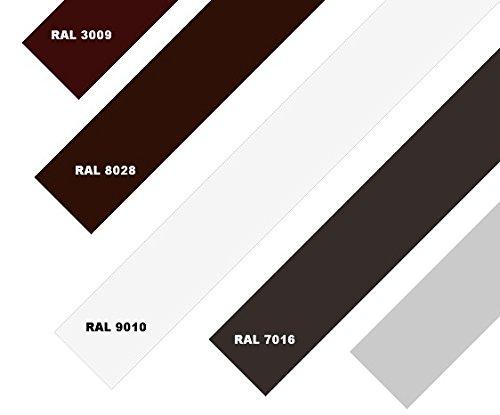 Aluminium Blechstreifen Alublech Alu Blech Alustreifen Streifenblech 50,0x0,8 2000mm RAL 9010 Weiß