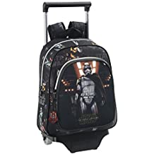 Safta Star Wars Mochila Infantil Carro, Color Negro