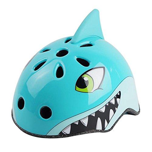 YGJT Casque Vélo Roller pour Enfant Unisexe Protection Anti-Choc Cyclisme Mignon Requin Taille M