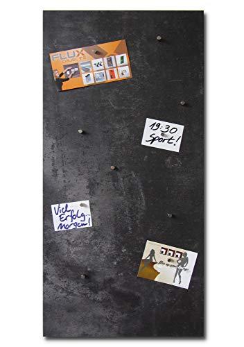 Vinyl-Magnetpinnwand in Stein-/Beton-Optik mit schwarz/grauer Struktur, magnetisches Memo-Board in der Größe 91,5cm x 46cm inkl. 10x Neodymmagnet -