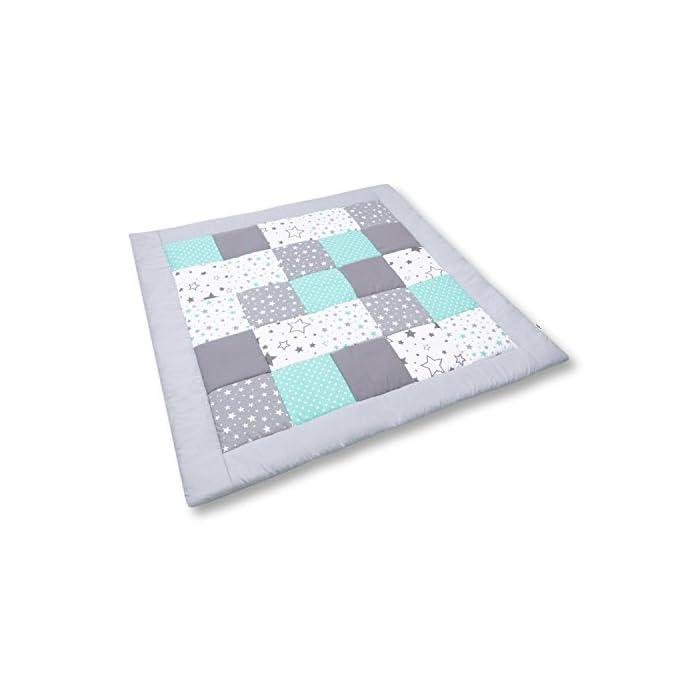 Amilian Baby Krabbeldecke Patchworkdecke als Geschenk Spieldecke Laufgittereinlage Decke Kuscheldecke Spielmatte Kinder…