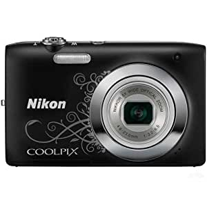 Nikon Coolpix S2600 14MP Point-and-Shoot Digital Camera (Floral Black) with 4GB Card, Camera Pouch