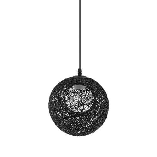 perfk Abat-Jour Plafond Lustre Suspension Décoration Maison Magasin 20cm - Noir avec Trou