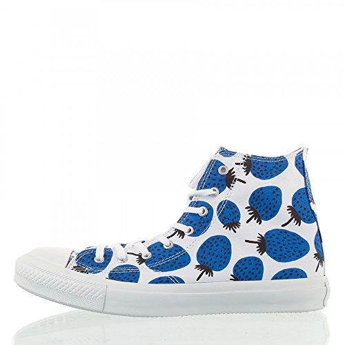 Converse A/S Marimekko Ct Premium Hi Canvas, Sneaker alte Donna White/Blue