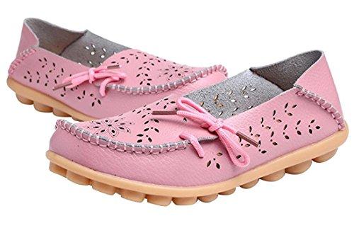 Auspicious beginning Mocassins évidements Creux Mocassins Décontractés Chaussures Bateau Pour les Femmes Rose