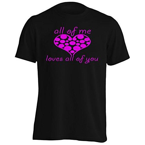 Tutti mi ama tutti voi di S. Valentino novità divertente Uomo T-shirt a1m Black