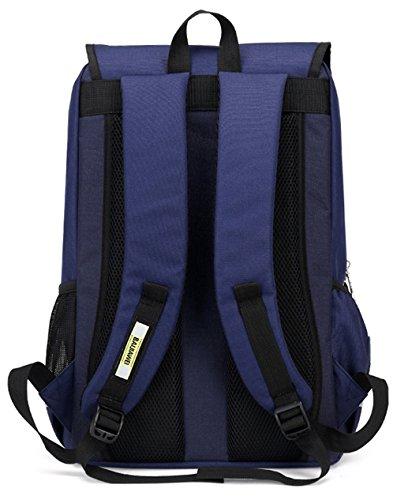 Keshi Nylon neuer Stil Damen accessories hohe Qualität Einfache Tasche Schultertasche Freizeitrucksack Tasche Rucksäcke Blau