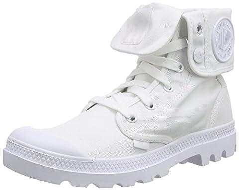 Palladium Baggy, Bottes Desert de hauteur moyenne, doublure froide femme, Blanc (White/White), 39