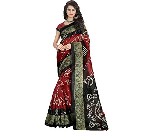 Sarees (Women\'s Clothing Saree Today best offers buy online in Low Price Sale Designer Multi Color Art Silk Fabric Free Size Ladies Sari With Blouse Piece)
